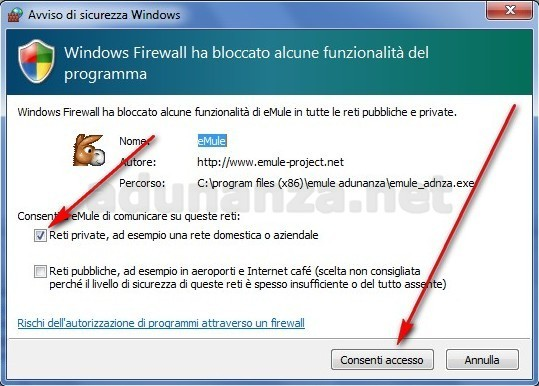 emule adunanza per windows 7