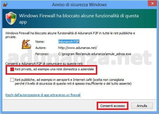 emule adunanza per windows 8