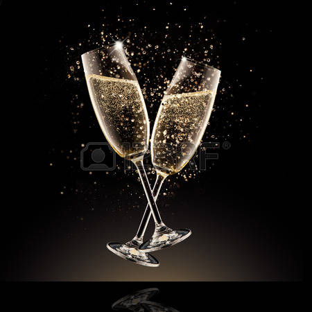 33011444-celebration-theme-glasses-of-champagne-with-bubbles-isolated-on-black-background
